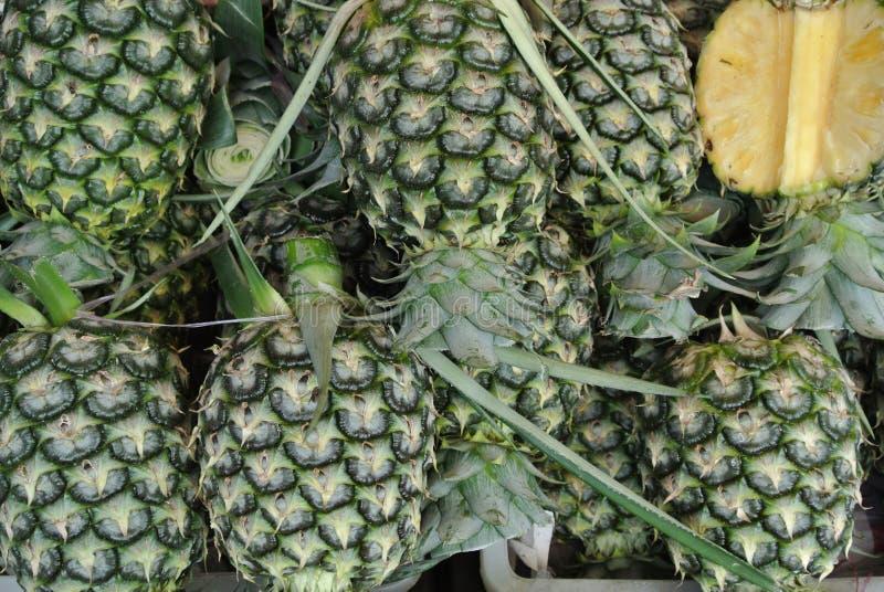 Ananas sur le marché image stock
