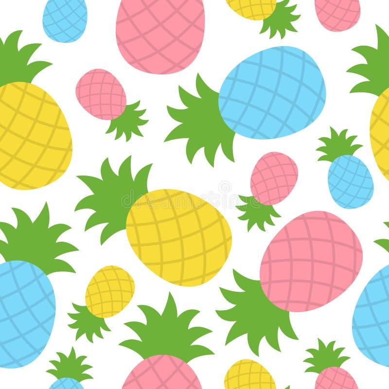 Ananas tropisch vector naadloos patroon vector illustratie