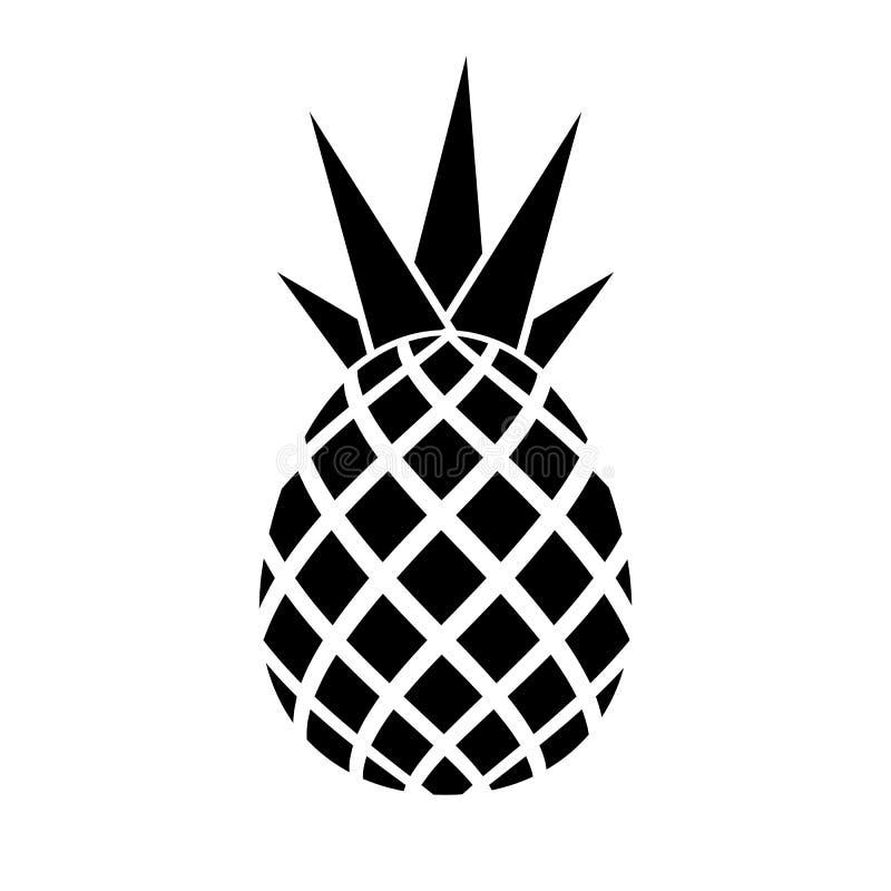 Ananas vectorpictogram stock illustratie