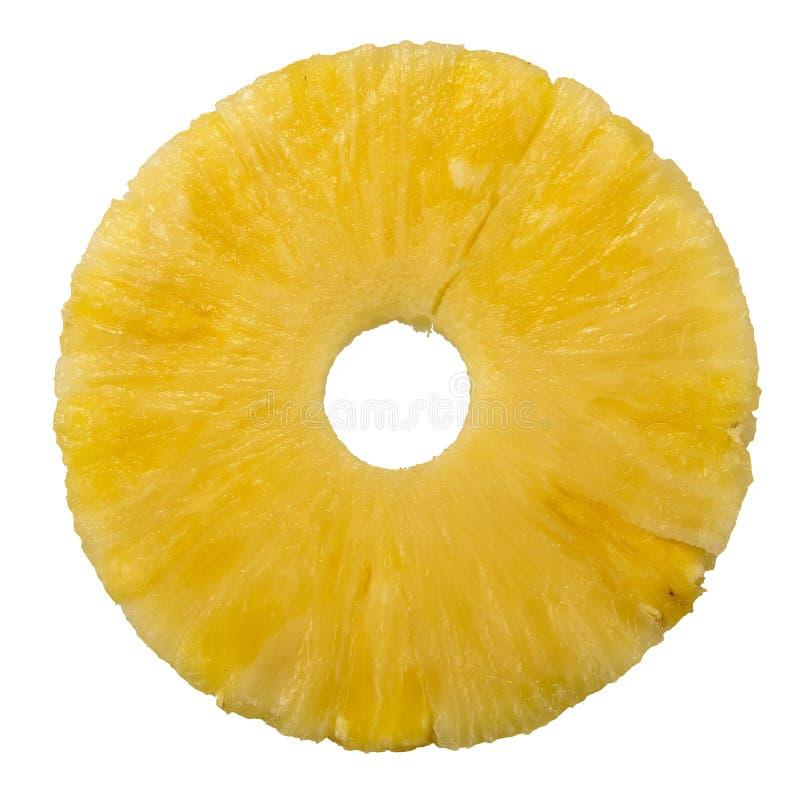 ananasa świeży odosobniony pierścionek zdjęcia royalty free