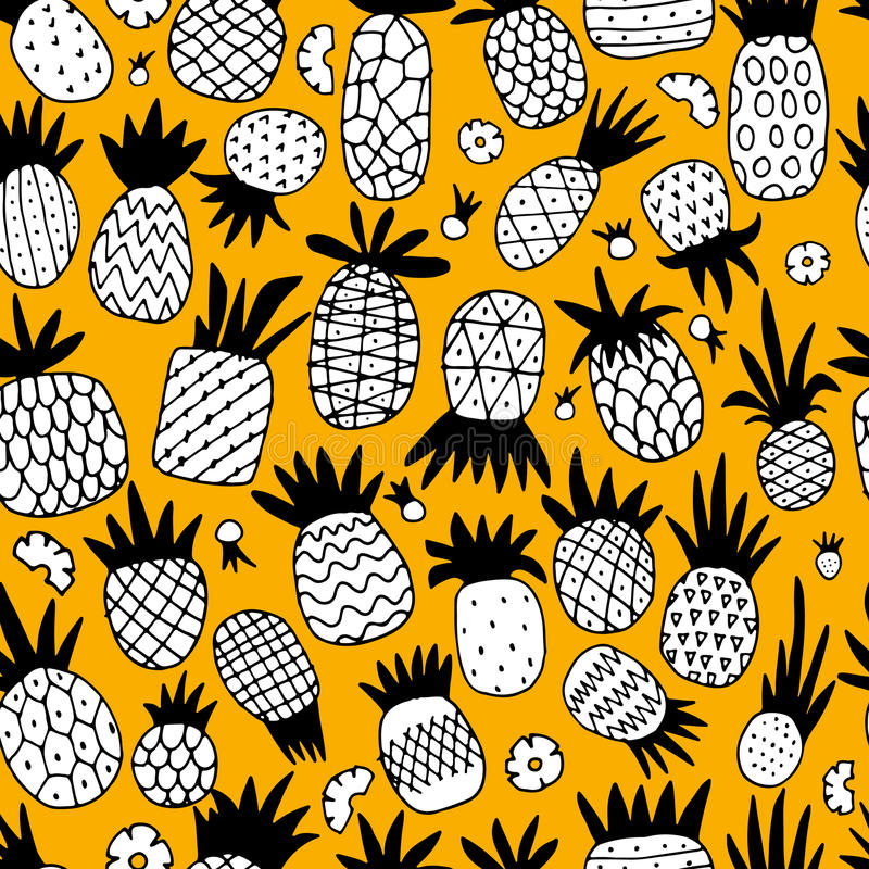 Ananasa set, nakreślenie dla twój projekta ilustracja wektor