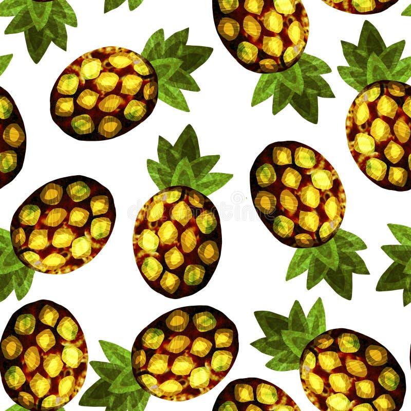 Ananasa wzór, tropikalny druk fotografia stock