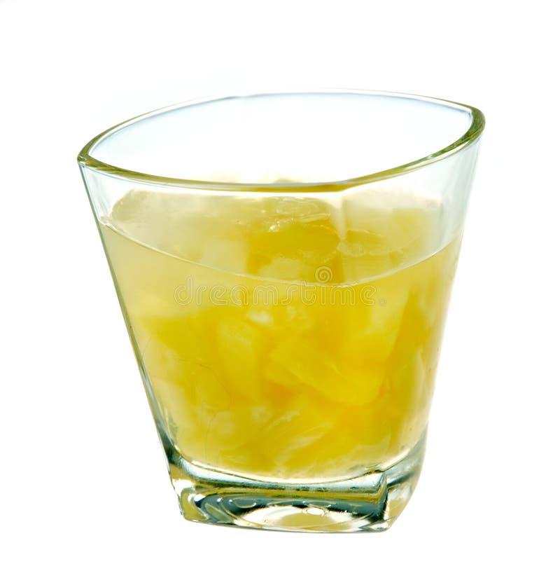 Ananasgeléefterrätt royaltyfria foton