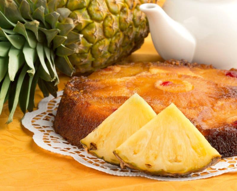 Ananaskaka royaltyfri bild
