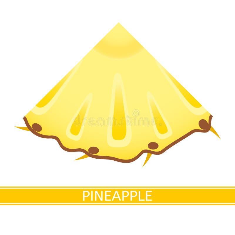 Ananaskeilikone auf Weiß stock abbildung