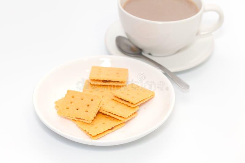 Ananaskoekje en koffie royalty-vrije stock afbeeldingen