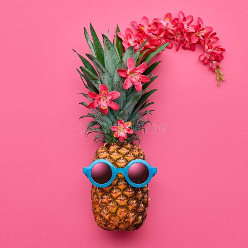 AnanasmodeHipster Tropiskt sommarlynne arkivfoto
