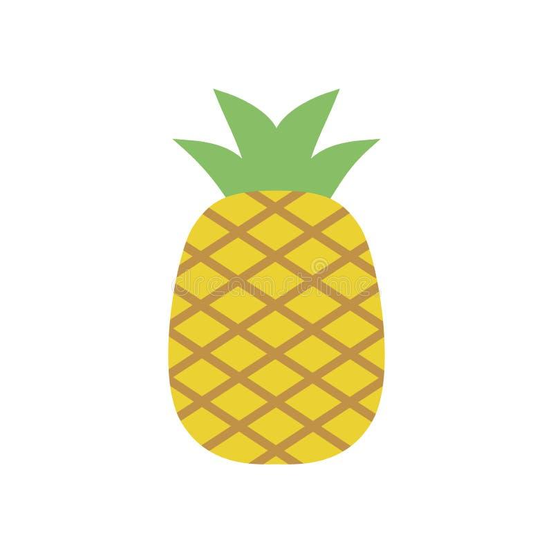 Ananasowa ikona, prosty projekt, Pineappleicon klamerki sztuka royalty ilustracja