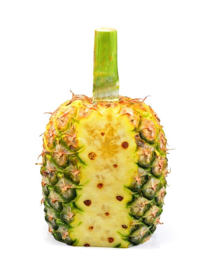 Ananasowa owoc odizolowywająca na białym tle zdjęcia royalty free