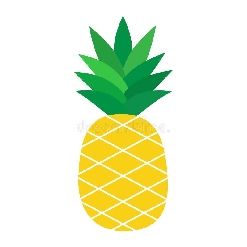 Ananasowa tropikalnej owoc wektoru ilustracja ilustracja wektor