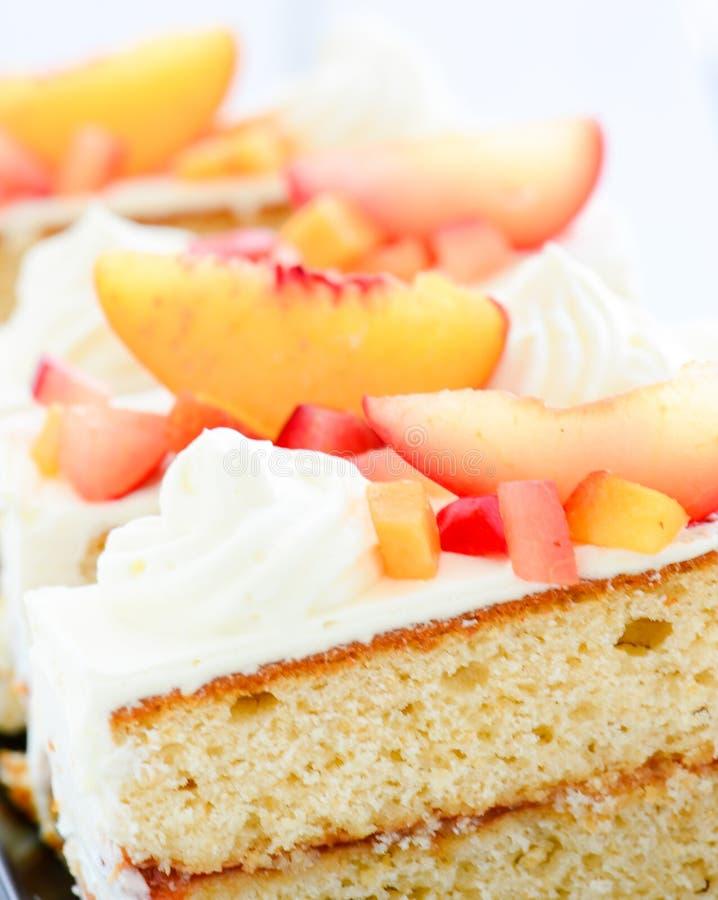 Ananasowy brzoskwini ciasto zdjęcie stock