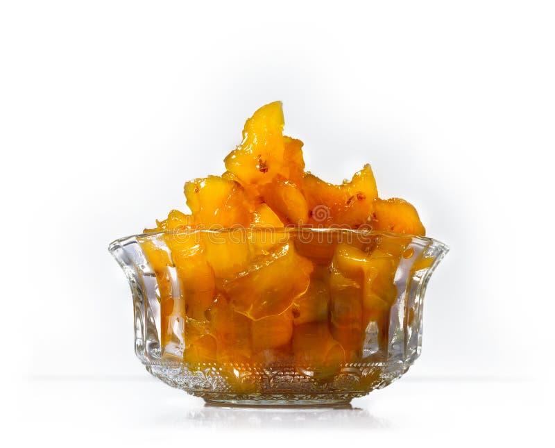 Ananasowy dżem w szkle Pyskuje obrazy royalty free