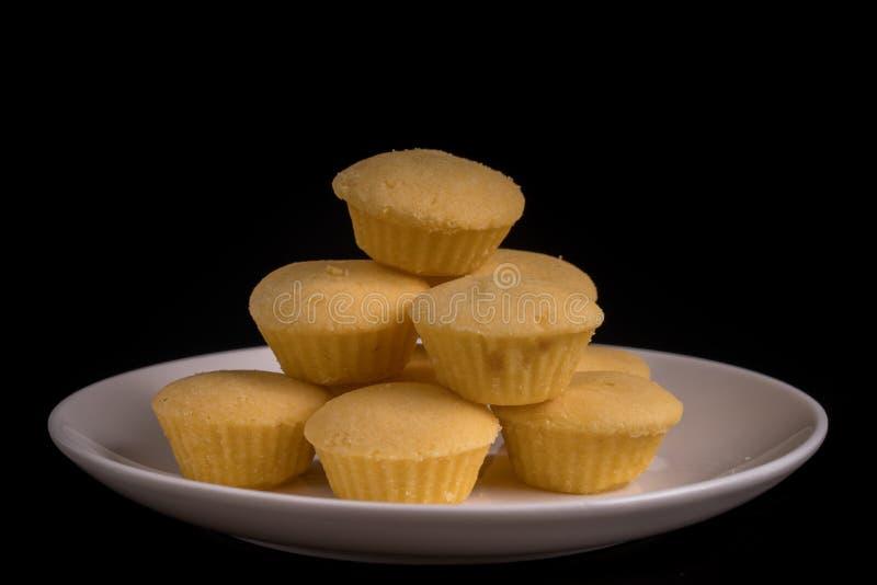 Ananasowy filiżanki ciastko obraz stock
