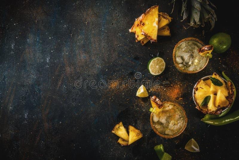 Ananasowy Jalapeno Margarita zdjęcia royalty free