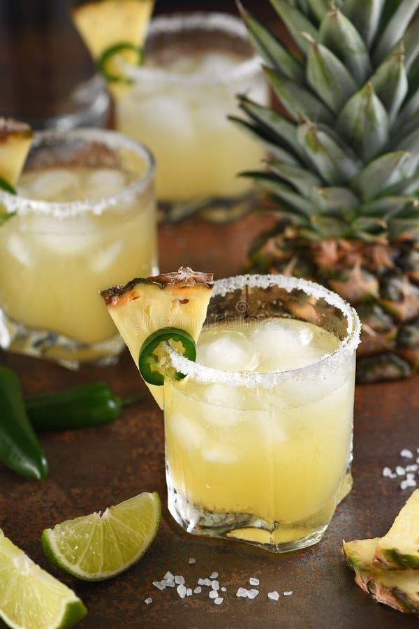 Ananasowy Margarita z Jalapeno zdjęcie royalty free