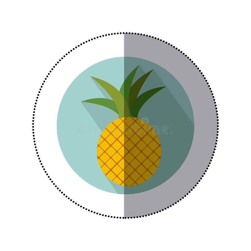 ananasowy owocowy ikona wizerunek royalty ilustracja
