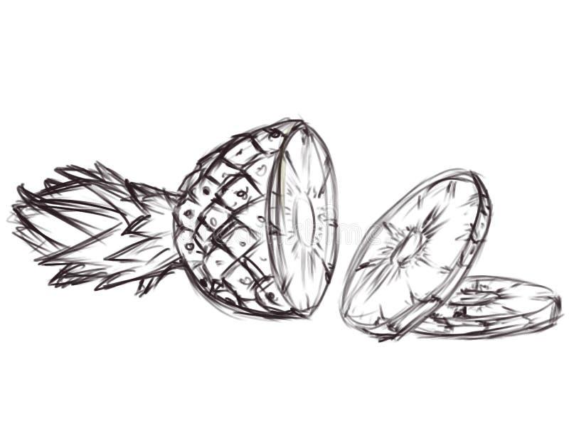 ananasowy ske ilustracyjny ilustracji