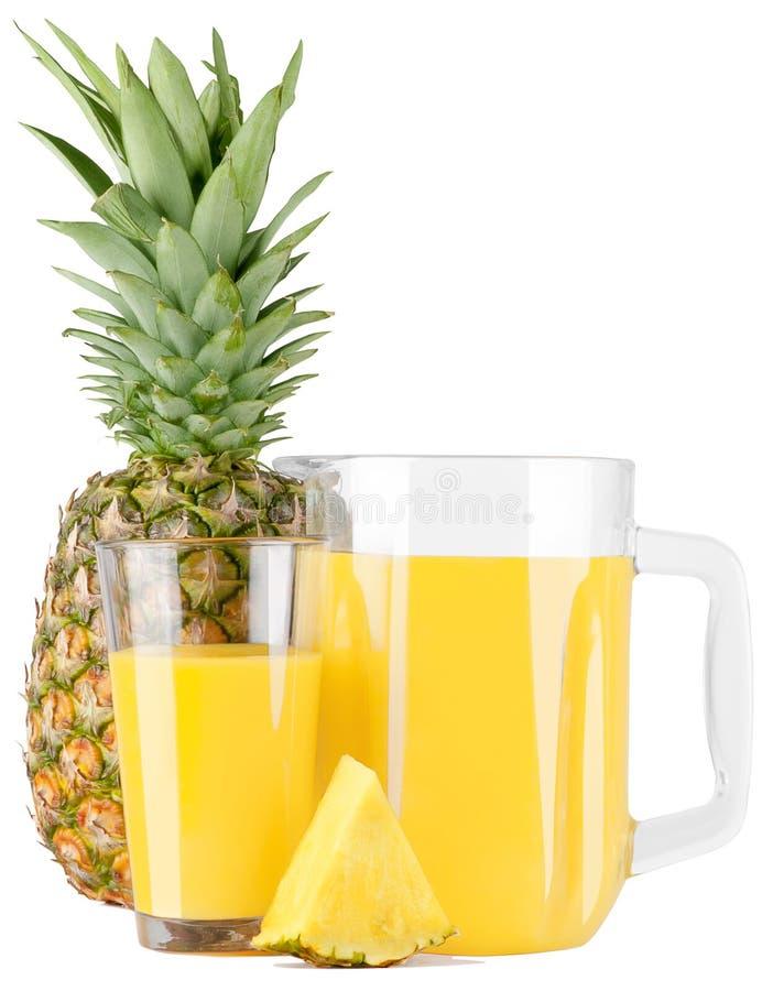 Ananasowy sok w szkle obrazy stock