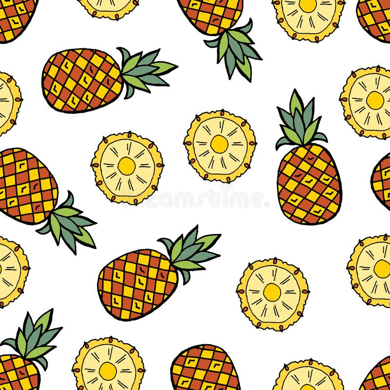 Ananaspatroon vector illustratie