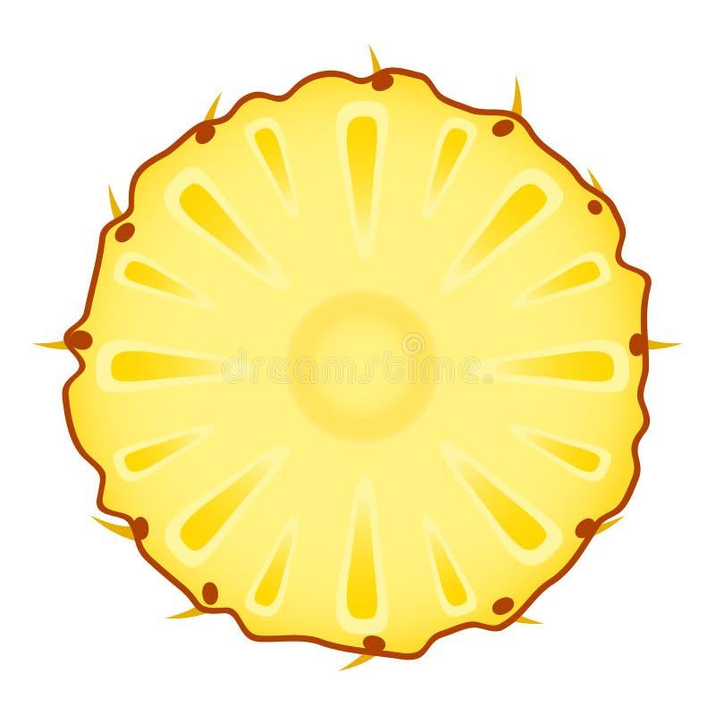 Ananasscheibe auf Weiß lizenzfreie abbildung