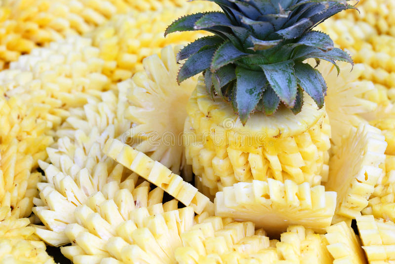 Ananasskivor royaltyfria foton
