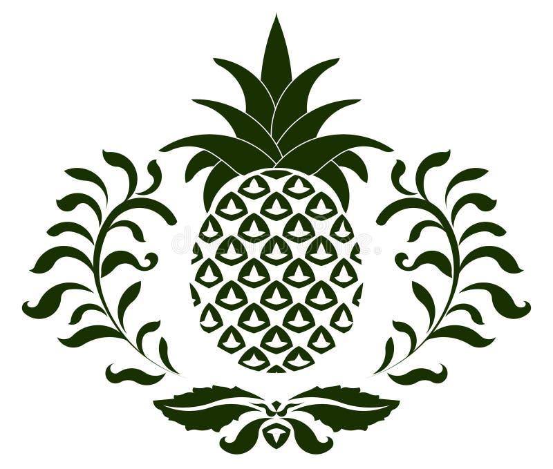 Ananassymbol vektor illustrationer