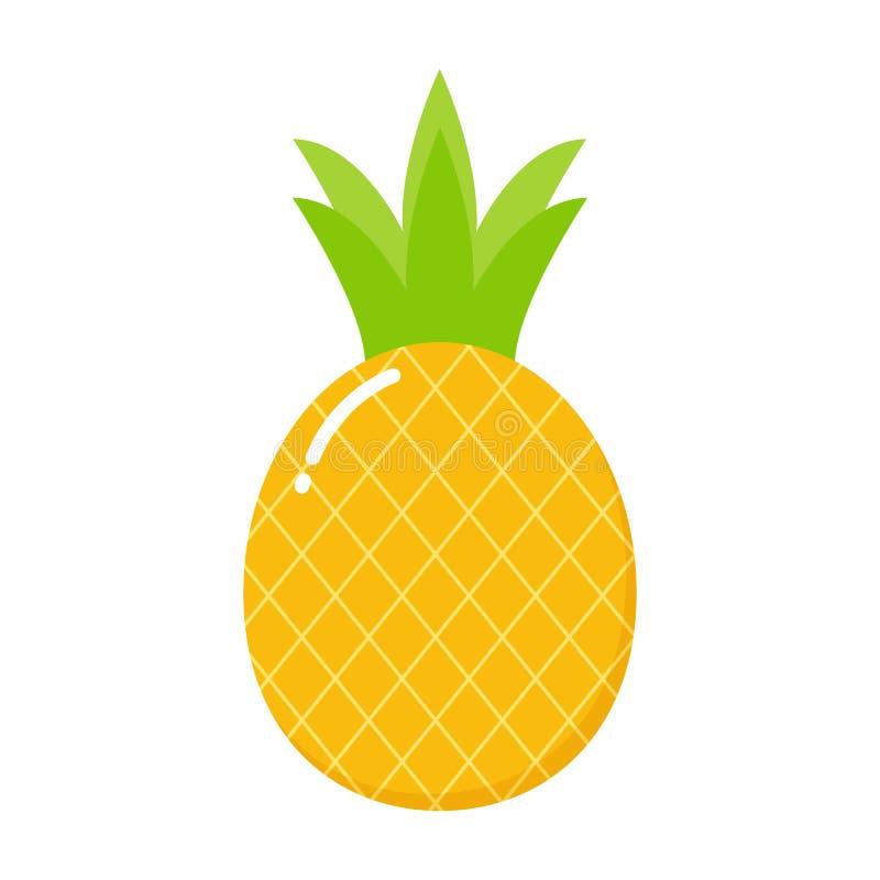 Ananassymbol tropisk frukt Ananastryck också vektor för coreldrawillustration vektor illustrationer