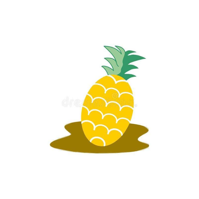 Ananasvektorillustration royaltyfri illustrationer