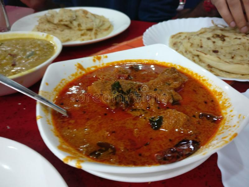 Anand chicken curry. Chicken curry Malabar South India stock photography