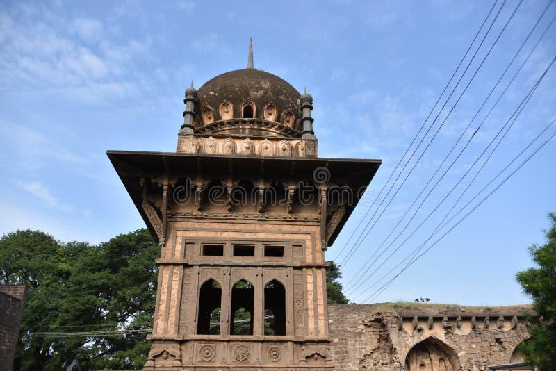 Anand Mahal Palace Bijapur, Karnataka, Indien royaltyfri bild