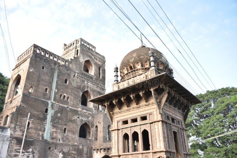 Anand Mahal Palace Bijapur, Karnataka, Indien arkivfoto