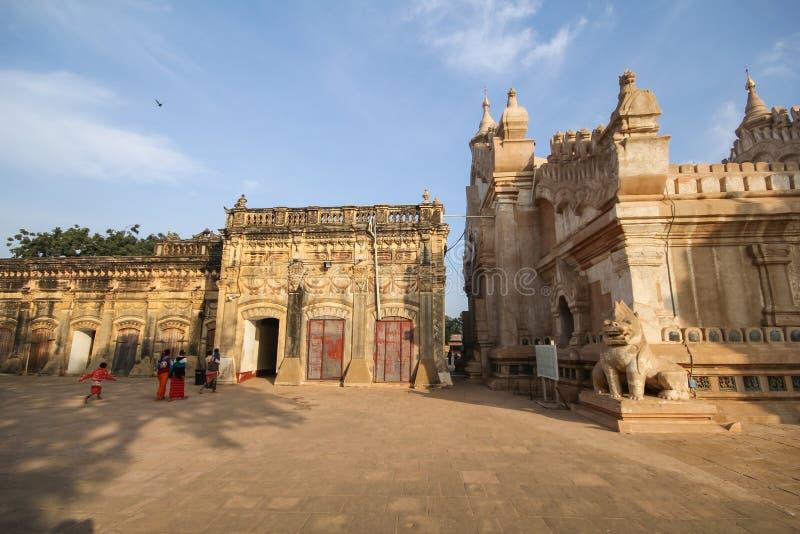 Ananda świątynia, Bagan, Myanmar duża świątynia obraz stock