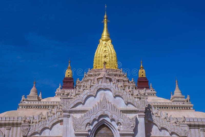 Ananda świątynia w bagan Myanmar zdjęcia stock