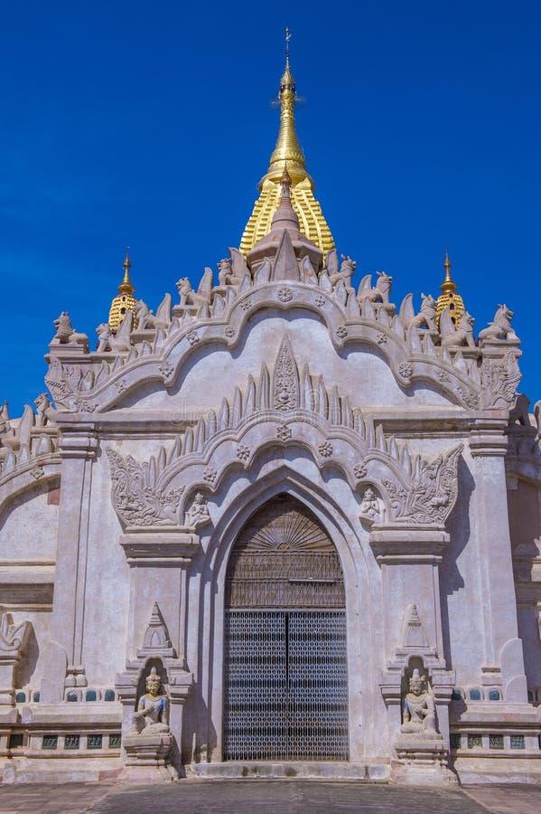 Ananda świątynia w bagan Myanmar obraz royalty free