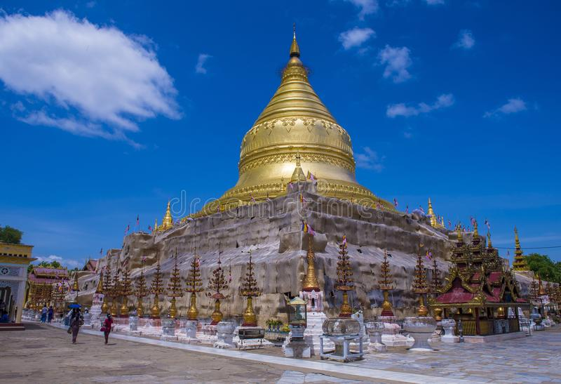 Ananda świątynia w bagan Myanmar zdjęcie stock