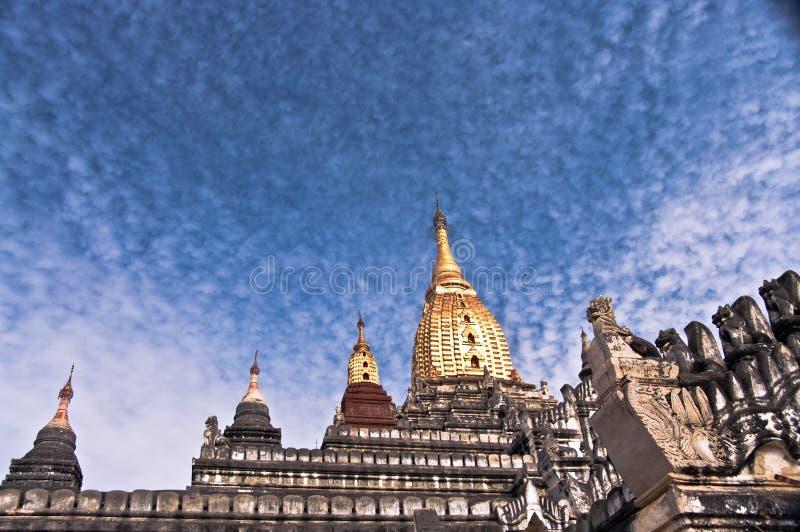 ananda bagan缅甸寺庙 库存照片
