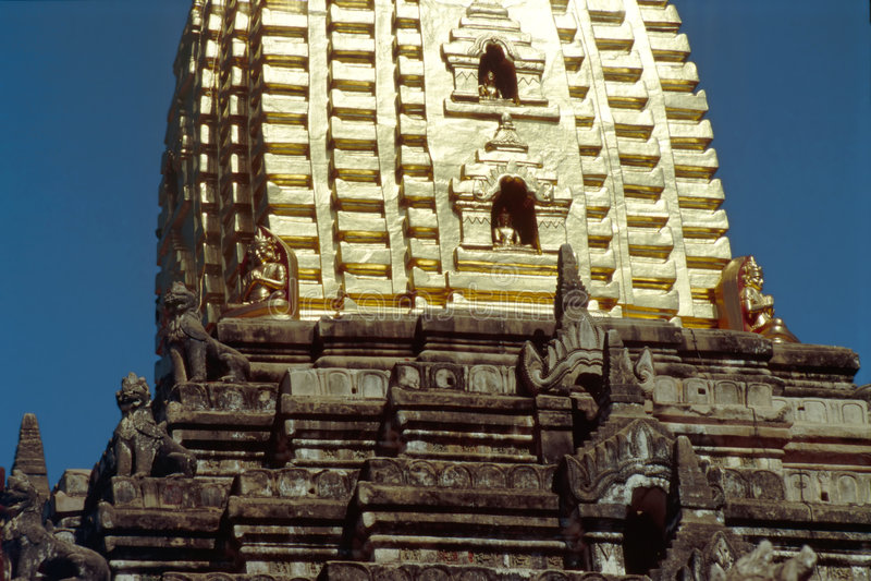 Ananda Pahto Stupa - Bagan, Myanmar stock fotografie