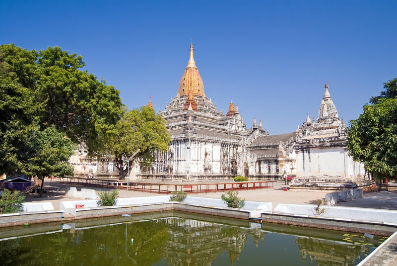Download Ananda Temple stock photo. Image of landmark, spire, stupa - 10733588