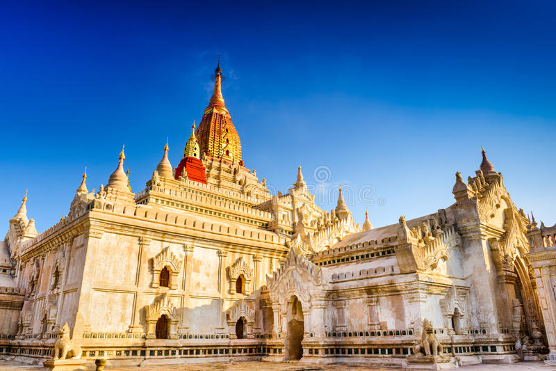 Ananda Temple de Bagan image libre de droits