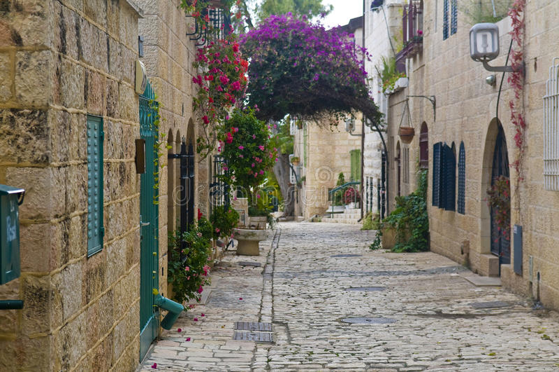 ananim Jerusalem mishkenot sha fotografia stock