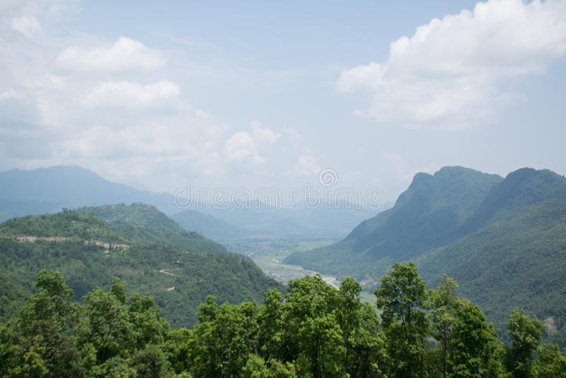 Ananpurna bergskedja, Nepal royaltyfria bilder