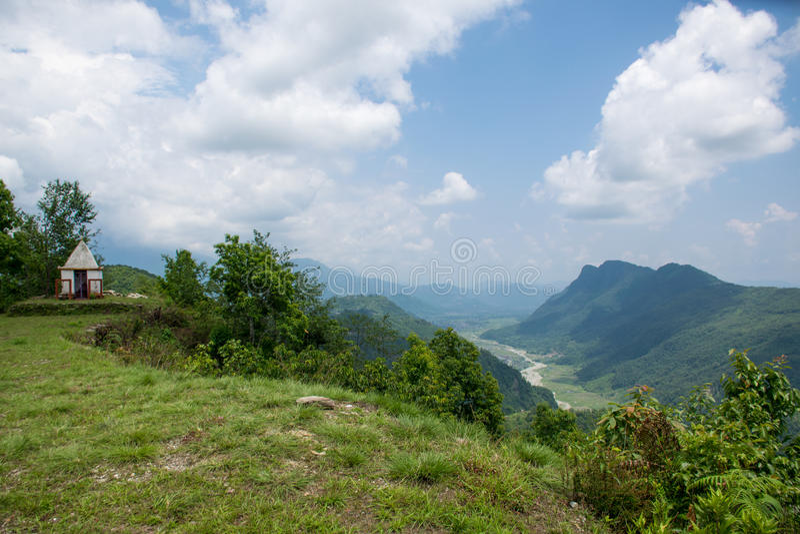 Ananpurna bergskedja, Nepal arkivfoton