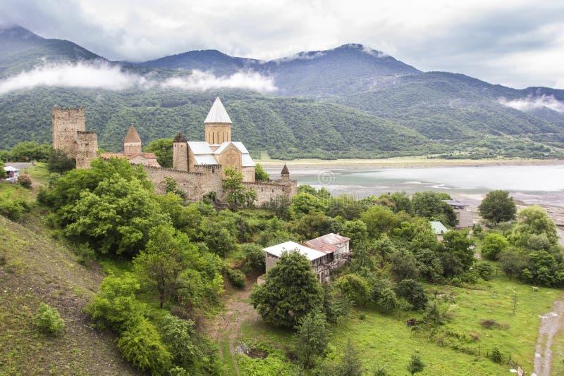 Ananuri城堡,乔治亚 库存图片