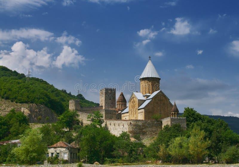 ananuri城堡 免版税图库摄影