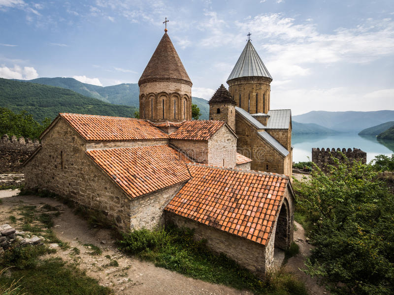 Ananuri堡垒,乔治亚,高加索 免版税库存图片