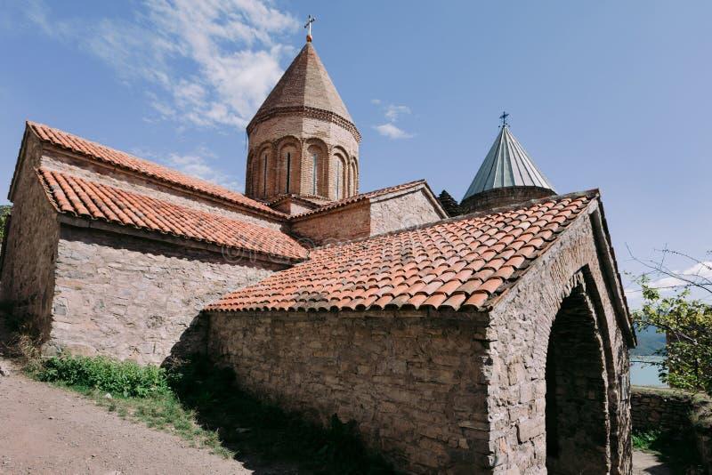 Ananuri教会和堡垒在乔治亚 免版税库存照片