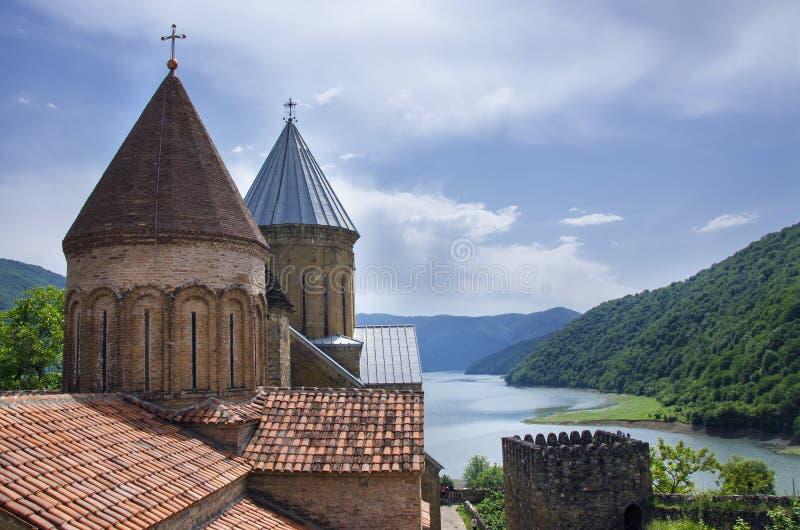 Ananuri kloster arkivbild