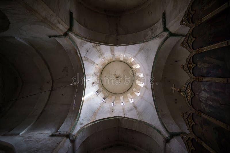 Ananuri kościelny wierza z wewnątrz obraz stock