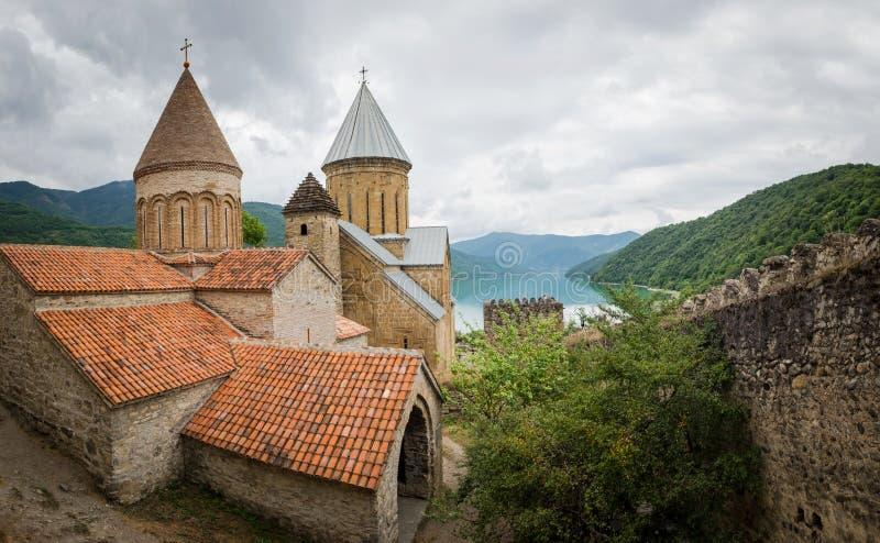 Ananurikasteel, Georgië royalty-vrije stock foto