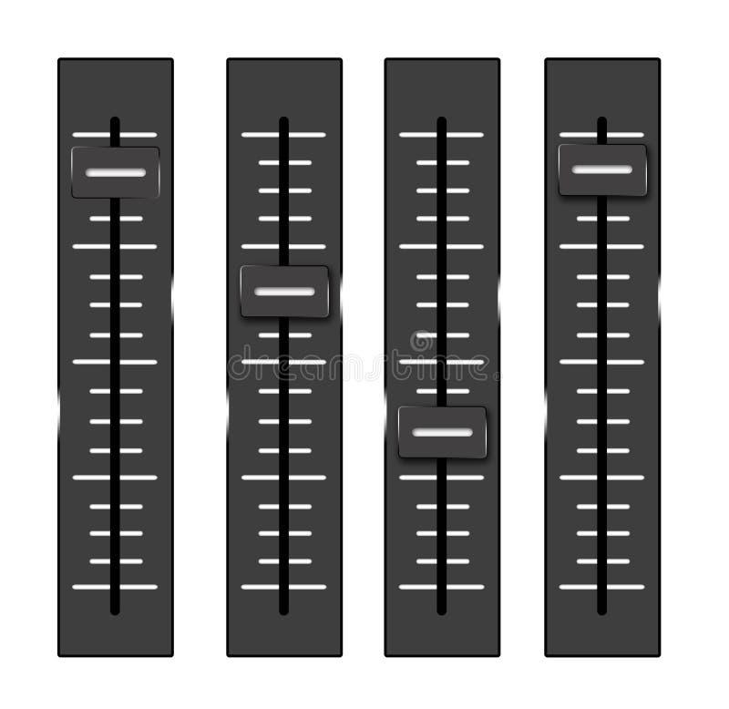 Anaog volymutjämnare stock illustrationer